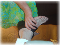 Working with foot